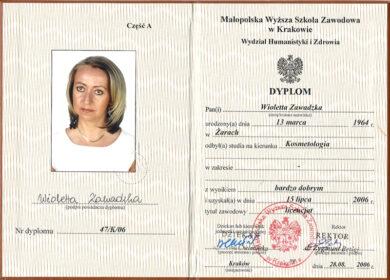 Dyplom - tytuł licencjat